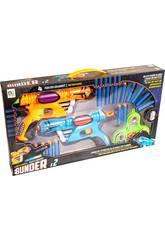 2 pistolets lance fléchettes avec diane
