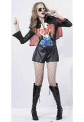 Déguisement star du rock femme taille XL