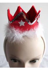 Diadema Coroa Vermelha com Luz