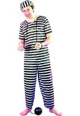 Kostüm Häftling für Mann Größe L