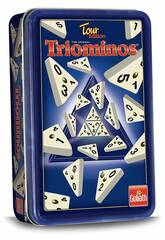 Triominos Tour Edition com Caixa de Metal Goliath 60632