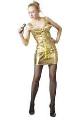 Disfraz Estrella del Rock 80´S Mujer Talla L