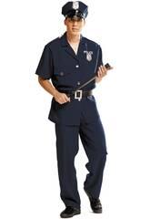 Costume Uomo S Poliziotto con Cappello