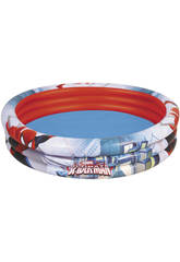 Piscine Gonflable 152x30cm, 3 Boudins Spiderman