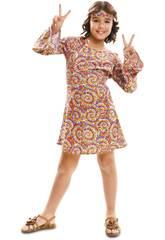 Disfraz Niña XL Hippie Psicodélica