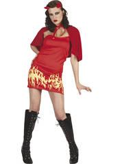 Kostüm Flammenteuflin Frau Größe XL
