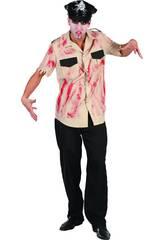 Disfraz Policia sangriento hombre Talla L
