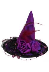 Mini sombrero lila 14.5 cm. bruja