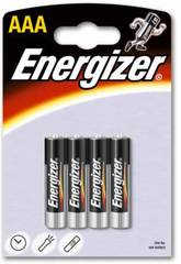 Blister 4 Piles LR03/AAA Alcalines Energizer