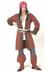 Déguisement pirate des Caraïbes veste longue homme