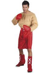 Fantasia Boxeador Músculos Homem Tamanho XL