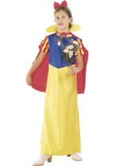 Déguisement Princesse des Neiges Cape Fille Taille XL