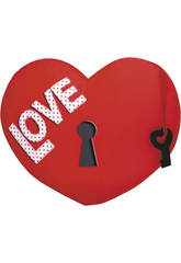 Coeur 32 cm. Love bande Velours