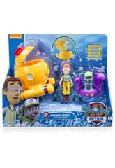 Playset Baño Patrulla Canina Figuras Capitán Turbot y Rocky 11 cm Bizak 61926630
