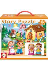 Hansel y Gretel Puzzle Story Educa 14798