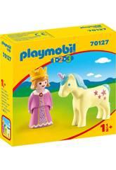 Playmobil 1,2,3 Princesa com Unicórnio Playmobil 70127