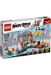 Lego Angry Birds La démolition de Cochon Ville