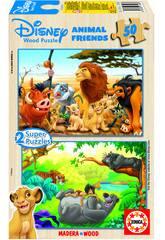 Puzzle 2x50 Animals Friends Educa 13144