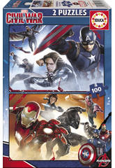 Puzzle Junior 2x100 Capital America: Civil War