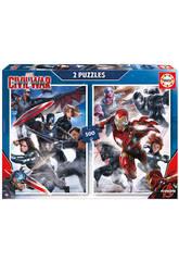 Puzzle 2x500 Capitaine América : Civil War