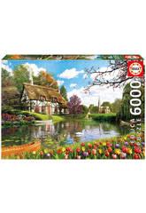 Puzzle 6000 Primavera en el Lago