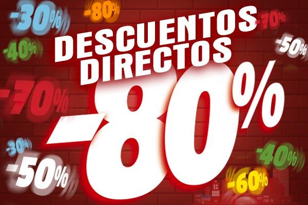 Descuentos directos del 30% al 80% en una selección de artículos
