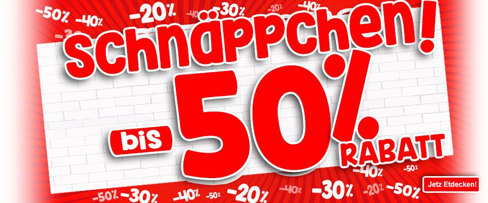 20%, 30%, 40%, 50% Rabatt auf einer großen Auswahl an Artikeln